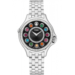 Fendi Crazy Carats Diamond Black Dial 33 mm Watch F107021000B2T05