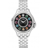 F107021000B2T05 Fendi Crazy Carats Black Dial Diamond Steel Watch 33mm