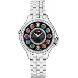 Fendi Crazy Carats Diamond Black Dial 38 mm Watch F107031000B2T05