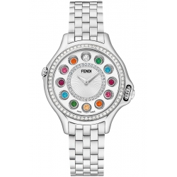 F107034000B2T05 Fendi Crazy Carats Diamond Silver Dial Watch 38mm