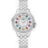 F107034000B2T05 Fendi Crazy Carats Diamond Silver Dial Watch 38mm