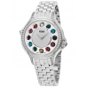 F107024000C0T05 Fendi Crazy Carats Diamond Silver Dial Watch 33mm