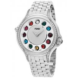 Fendi Crazy Carats Diamond Silver Dial 38 mm Watch F107034000C0T05