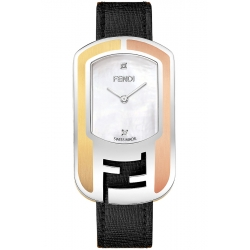 F303734511D1 Fendi Chameleon Three Tone Steel Watch 29mm