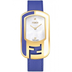 F333434531D1 Fendi Chameleon Two Tone Violet Strap Watch 29mm