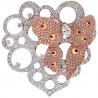 Womens Diamond Butterfly Open Pendant 18K Two Tone Gold 3.39 ct