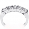 Womens Diamond 5-Stone Ring 18K White Gold 1.10 ct