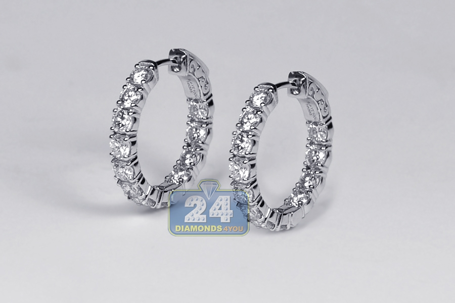 Small Gold Hoop Earrings With Diamonds
