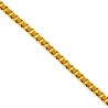 14K Yellow Gold Square Box Link Womens Chain 0.5 mm