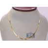 Solid 10K Yellow Gold Herringbone Womens Necklace 2.3 mm