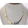 Solid 10K Yellow Gold Herringbone Womens Mens Chain 6 mm