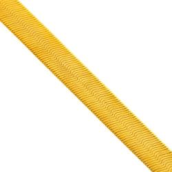 Italian 10K Yellow Gold Herringbone Womens Chain 9 mm
