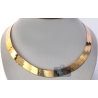 10K Yellow Gold Herringbone Mens Womens Necklace 15 mm