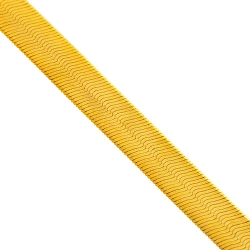 Solid 10K Yellow Gold Herringbone Mens Womens Chain 18 mm