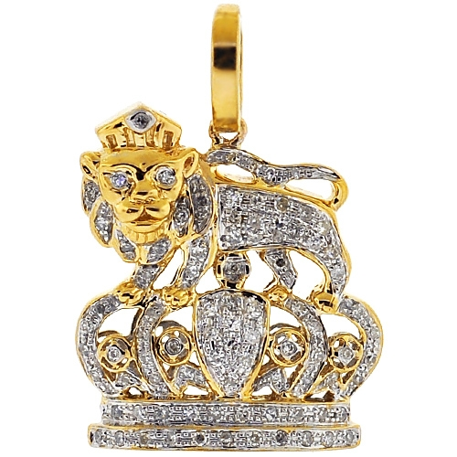 Details about  /King Shaped Crown CZ Pendant In Sterling Silver//10k Yellow Gold//14k Yellow Gold