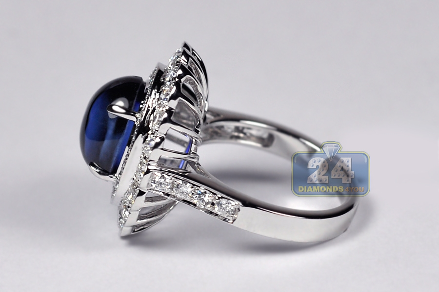 pavilion ring cabochon product engagement rings sapphire cad cluster double