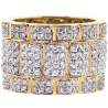 14K Yellow Gold 3.70 ct Diamond Mens Eternity Band Ring 16 mm