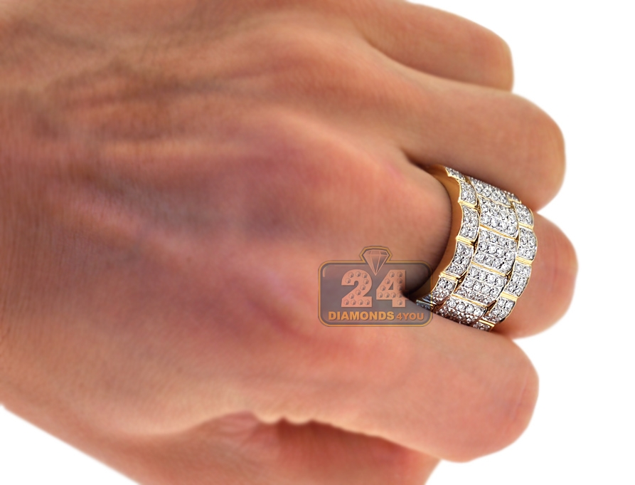men gold wedding yellow women ring fit and band bands rings itm solid mens comfort womens s