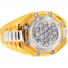 14K Two Tone Gold 0.50 ct Diamond Mens Step Signet Ring