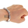Mens Diamond Bullet Link Bracelet 14K White Gold 2.64 ct 8mm 9.25""