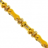Mens Diamond Bullet Link Bracelet 14K Yellow Gold 2.58 ct 8mm 9.25""