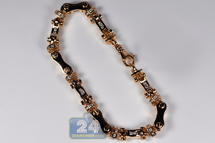 Diamond Link Necklace Mens