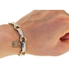 Mens Diamond Bicycle Link Bracelet 14K Yellow Gold 2.43 ct 8.25""
