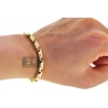 Mens Diamond Bar Link Bracelet 14K Yellow Gold 1.09 ct 9.25""