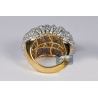 14K Yellow Gold 6.13 ct Diamond Womens Wave Dome Ring