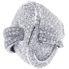 14K White Gold 3.18 ct Diamond Womens Twisted Ring