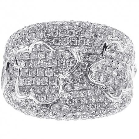 14K White Gold 2.60 ct Diamond Womens Spot Ring