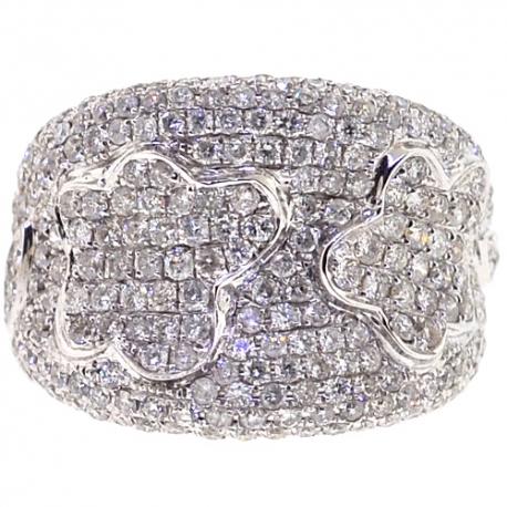 14K Yellow Gold 2.63 ct Diamond Womens Spot Ring