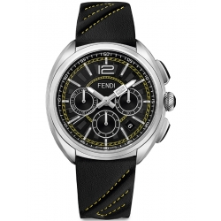 F230011011 Fendi Momento Chronograph Mens Leather Watch 46mm