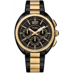 F231711000 Fendi Momento Chronograph Mens Two Tone Watch 46mm