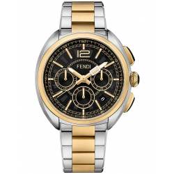 F231111000 Fendi Momento Chronograph Mens 2 Tone Watch 46mm