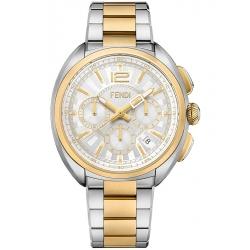 F231114000 Fendi Momento Chronograph Mens Bracelet Watch 46mm