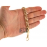Solid 14K Yellow Gold Russian Bismark Mens Bracelet 10mm 8.5""