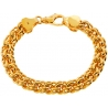 Custom 14K Yellow Gold Bismark Mens Bracelet 10 mm Handmade