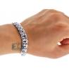 Custom 14K White Gold Bismark Mens Bracelet 10 mm Handmade