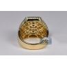 14K Yellow Gold 5.58 ct Diamond Mens Hexagon Ring