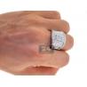 14K White Gold 2.34 ct Diamond Pave Mens Band Ring