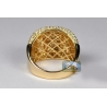 14K Yellow Gold 2.32 ct Diamond Pave Mens Band Ring