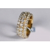 Mens Diamond Eternity Band Ring 14K Yellow Gold 7.52 ct 10 mm