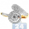 14K Yellow Gold 0.75 ct Diamond Spiral Engagement Ring