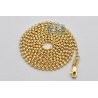 10K Yellow Gold Moon Cut Ball Mens Chain 1.8 mm