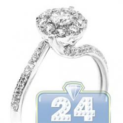 14K White Gold 0.65 ct Diamond Womens Engagement Ring