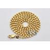 10K Yellow Gold Moon Cut Ball Mens Army Chain 2.5 mm