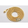 10K Yellow Gold Army Moon Cut Ball Mens Chain 3 mm