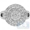 14K White Gold 2.22 ct Diamond Round Cluster Engagement Ring