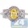 GIA 18K White Gold 1.80ct Fancy Intense Yellow Diamond Engagement Ring